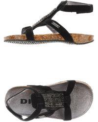 Diesel Black Sandals - Lyst