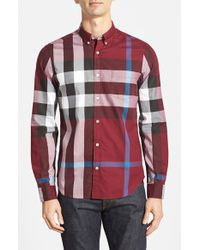 Burberry Brit   'Fred' Trim Fit Check Sport Shirt   Lyst