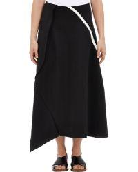 Marni Slub-Weave Asymmetric Skirt - Lyst