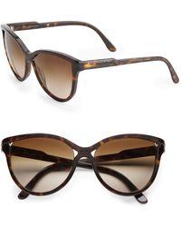 Stella McCartney 58Mm Cat'S-Eye Sunglasses - Lyst