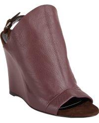 Balenciaga Wedgeheel Glove Slingback Sandals - Lyst