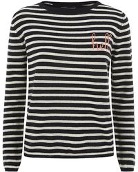 Chinti & Parker Hello Goodbye Stripe Cashmere Sweater - Lyst