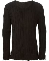 Ann Demeulemeester Textured Sweater - Lyst
