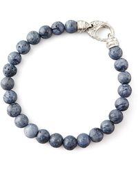 Stephen Webster Beaded Gray Coral Bracelet - Lyst