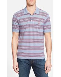 Brooks Brothers Textured Striped Polo Shirt blue - Lyst