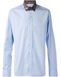 Lanvin Contrasted Collar Shirt - Lyst