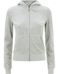 Juicy Couture Del Mar Paisley Hoodie gray - Lyst