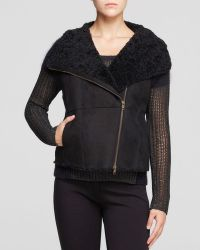 Eileen Fisher - Shearling Asymmetric Zip Vest - The Fisher Project - Lyst