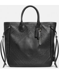 Coach Tatum Tall Tote in Tooling Leather - Lyst