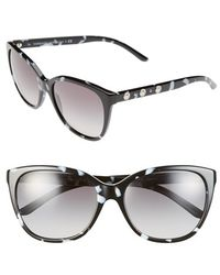 Versace Women'S 'Rock Icons' 57Mm Polarized Sunglasses - Black/ White - Lyst