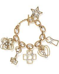 Lanvin - '125 Charms' Multi Charm Pendant Bracelet - Lyst