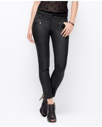 Ann Taylor Curvy Coated Super Skinny Jeans - Lyst