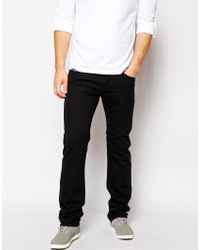 Diesel Jeans Safado Straight Fit 834J Black Overdye - Lyst