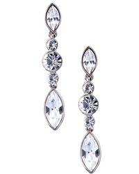 Givenchy Crystal Linear Drop Earrings - Lyst