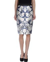 Prabal Gurung Knee Length Skirt white - Lyst