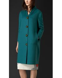 Burberry Straight Fit Cashmere Coat - Lyst