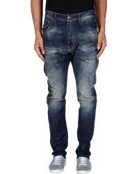 One | blue Denim Trousers | Lyst