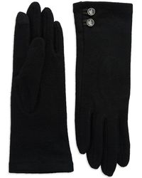 Lauren by Ralph Lauren - Logo Button Wool Gloves - Lyst