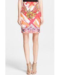 Versace Print Pencil Skirt - Lyst