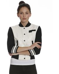 Members Only Cropped Varsity Jacket - Lyst