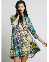 Free People Womens Fp New Romantics Fiesta Floral Dress - Lyst