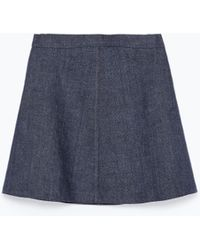 Zara Mini Skirt - Lyst