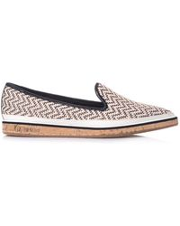 Nicholas Kirkwood Chevron Patterned Raffia Loafer - Lyst