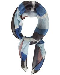 Topshop Blue Striped Neckerchief - Lyst