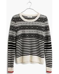 Madewell Fairstripe Pullover Sweater - Lyst