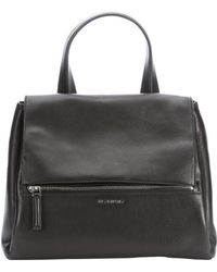 Givenchy Black Leather Pandora Pure Convertible Top Handle Bag - Lyst