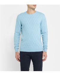 Etro Textured-knit Cashmere Sweater - Lyst