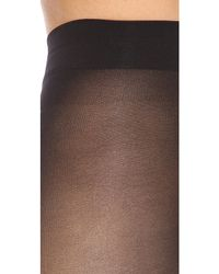 Alice + Olivia - Alice + Olivia Super Lovely 40D Opaque Tights - Black - Lyst