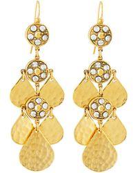 Jose & Maria Barrera Crystal Teardrop Chandelier Earrings - Lyst