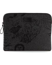 Carven Gray Tattoo Wallet - Lyst