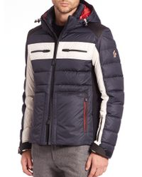 Moncler Tri-colored Puffer Jacket blue - Lyst