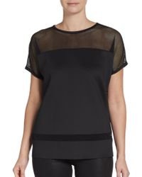 Rachel Zoe Mesh Illusion Top - Lyst
