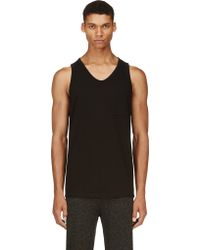T By Alexander Wang Black Pocket Tank Top - Lyst