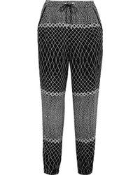 Zimmermann - Printed Crepe Track Pants - Lyst