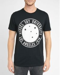 DIESEL | Black Joe-a University Logo Round-neck T-shirt | Lyst