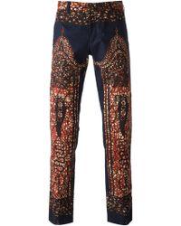 Dent De Man - Ethnic Print Trousers - Lyst