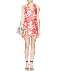 Diane von Furstenberg 'Anthea' Geometric Floral Print Dress - Lyst