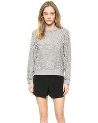 Sea Beaded Sweatshirt - Grey - Lyst