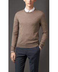 Burberry Crew Neck Merino Wool Sweater - Lyst