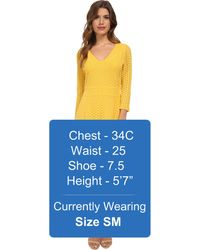 Catherine Catherine Malandrino Yellow Pearl Dress - Lyst