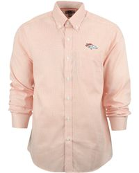 Cutter & Buck Men'S Denver Broncos Tattersall Dress Shirt - Lyst
