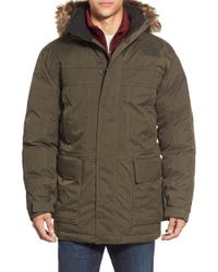 The North Face - 'mcmurdo Parka Ii' Waterproof Goose Down Coat With Faux Fur Trim - Lyst