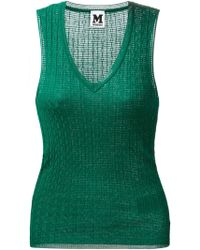 M Missoni Patterned Fine Knit Top - Lyst