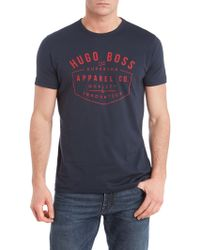 Hugo Boss Badge Logo Tshirt - Lyst