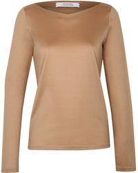 Dorothee Schumacher   beige Multiple Visions Shirt V-neck 1/1   Lyst