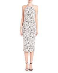 Shoshanna | Uma Lace Midi Dress | Lyst